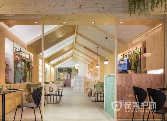日式北欧风格饭店门头装修效果图