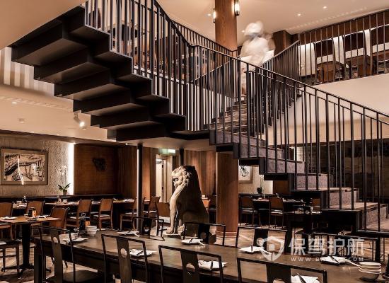 新中式风格饭店楼梯装修效果图