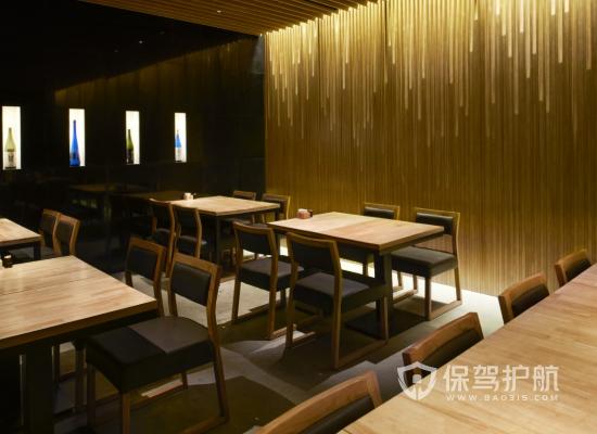 日式风格饭店吊顶装修效果图