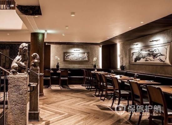 新中式风格饭店吊顶装修效果图