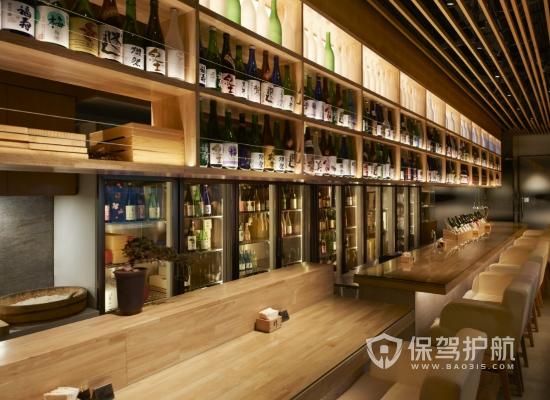 日式风格饭店商品柜装修效果图