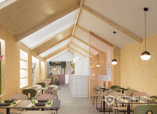 日式北欧风格饭店吊顶装修效果图