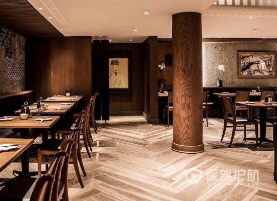 新中式风格饭店过道装修效果图