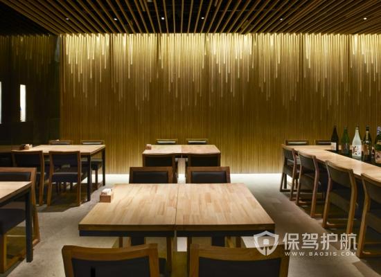 日式风格饭店灯光设计效果图