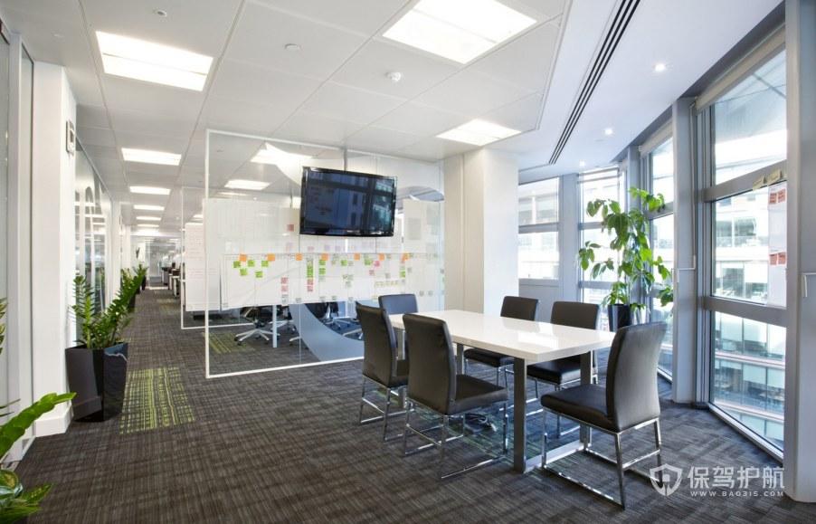 现代简约风格小会议室装修效果图