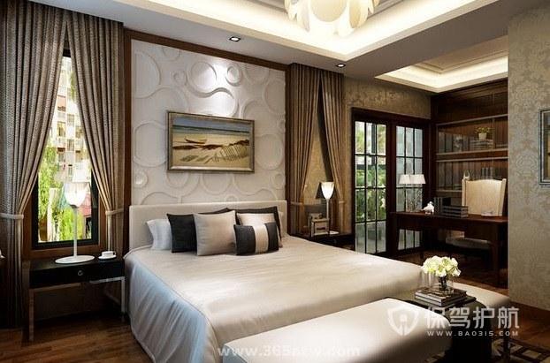 经典法式风酒店房间装修效果图