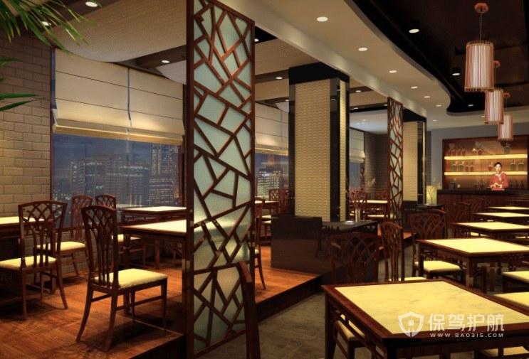 中式新古典餐厅装修效果图