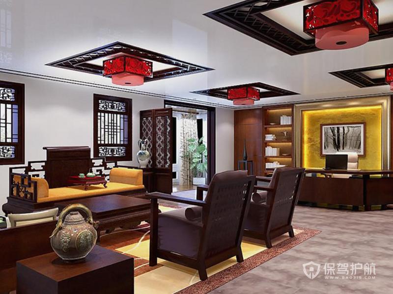 新中式领导办公室装修效果图