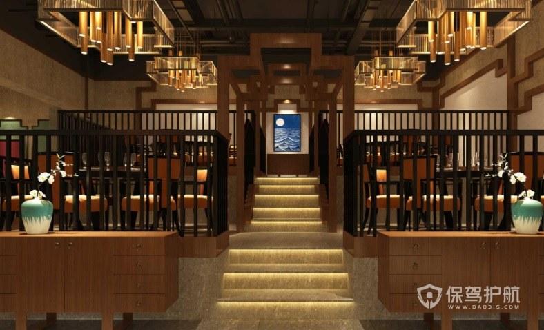 欧式古典创意餐厅装修效果图