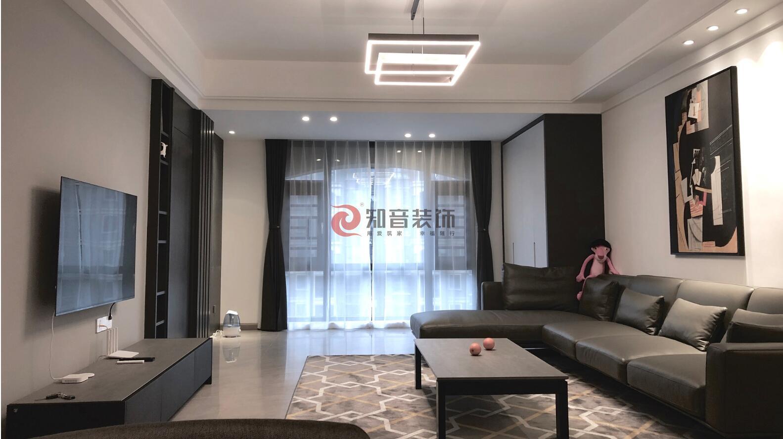 湘潭东方名苑·臻嘉园四室两厅两卫现代极简风装修效果图