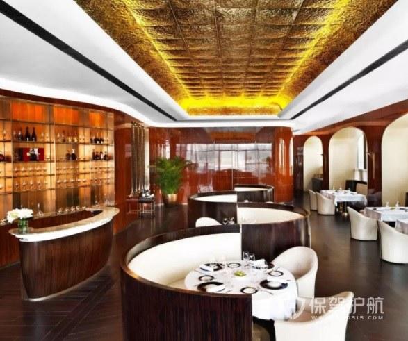 意大利复古豪华餐厅装修效果图