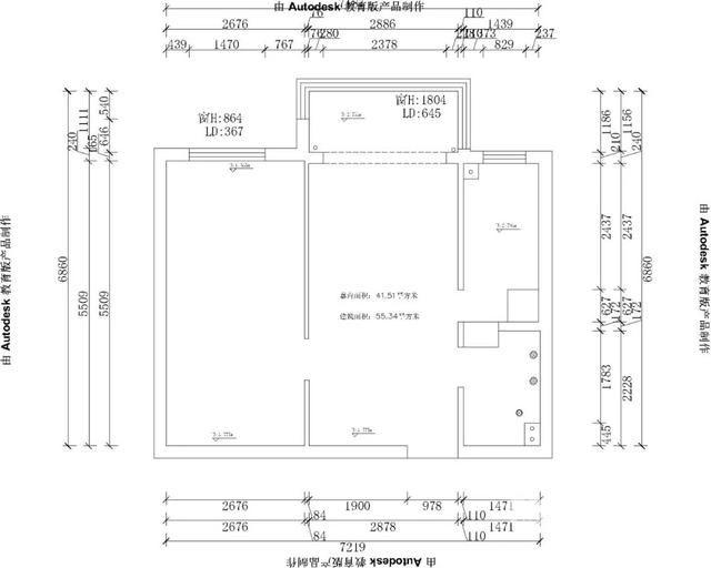 三口之家55㎡小戶型裝修效果圖-保駕護航裝修網