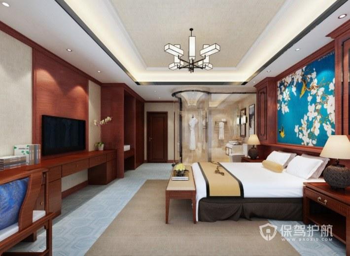 日式复古风酒店房间装修效果图