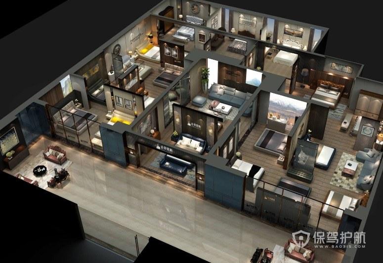 灯具展厅装修效果图 展厅的灯光如何设计?