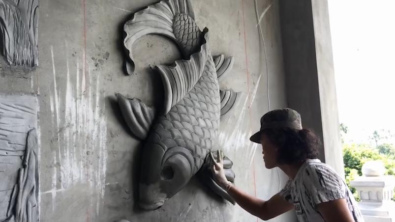 手繪墻已經不流行了, 越來越多的人開始喜歡做水泥立體3D墻了