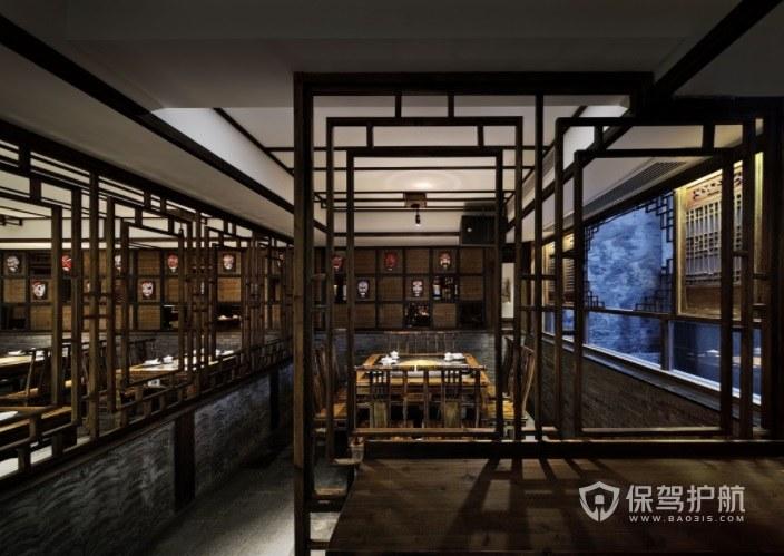复古中式风餐厅装修效果图