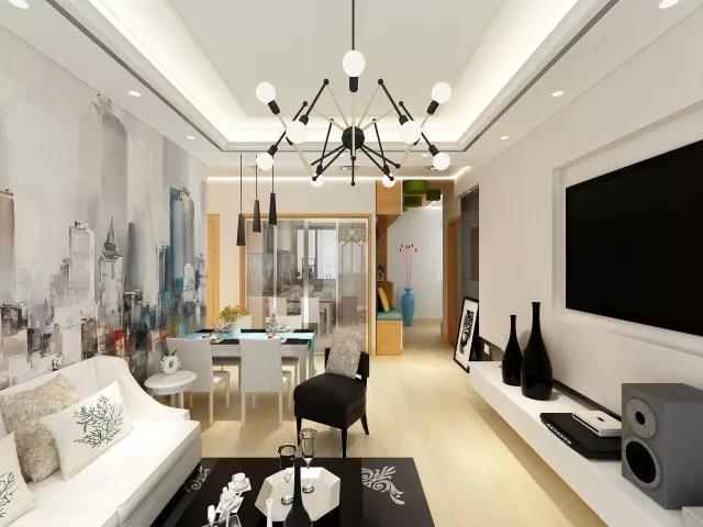 75㎡簡約風格兩居室裝修,造價12萬,設計感十足!