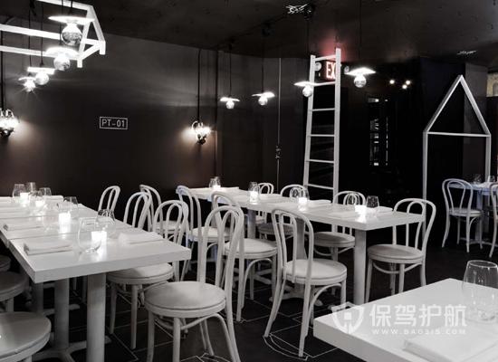现代风格主题餐厅布局装修效果图