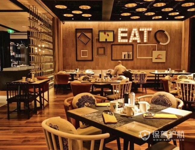 美式复古风创意餐厅装修效果图