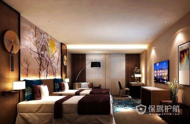 日式古典中国风酒店房间装修效果图