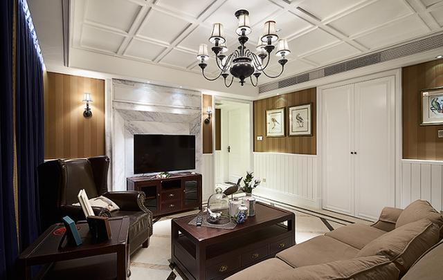 拒絕婆家裝修,親自操刀美式風格設計,160㎡婚房裝完高檔大氣
