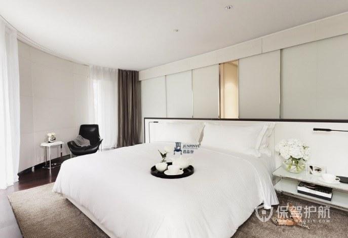 现代极简风酒店房间装修效果图