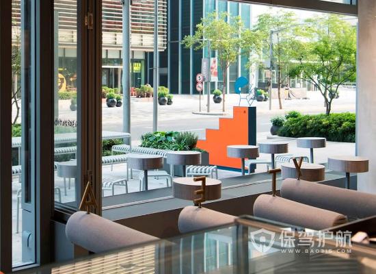 loft风格奶茶店窗户设计效果图