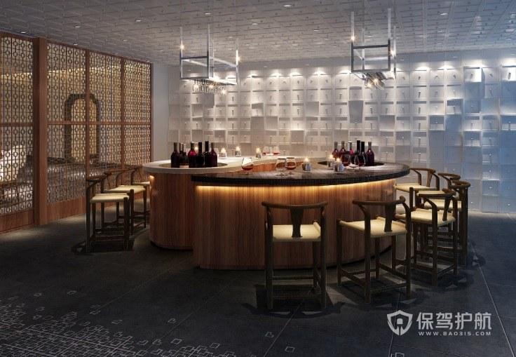 美式复古典雅餐厅装修效果图