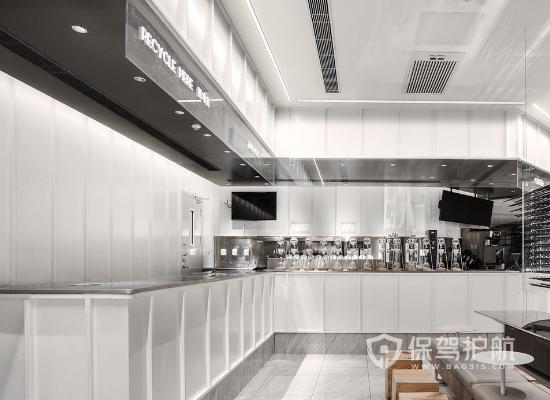 现代风格奶茶店面工作区装修效果图