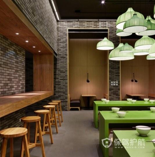 日式典雅工业风餐厅装修效果图