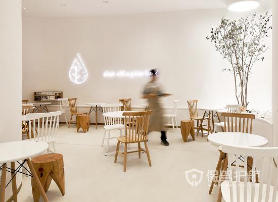 简洁简约风格奶茶店桌椅设计效果图