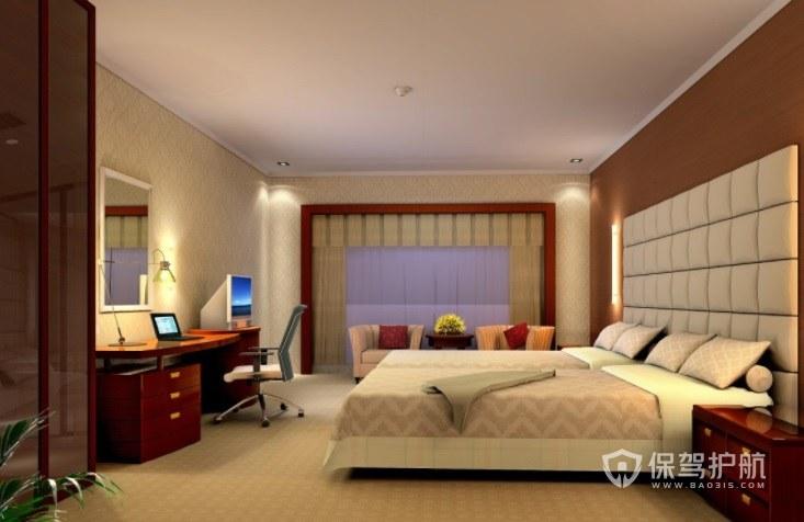 简约西式酒店房间装修效果图