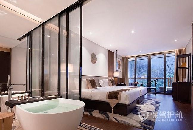 英式复古酒店房间装修效果图
