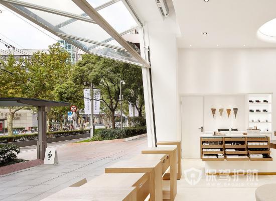 简洁简约风格奶茶店窗户设计效果图