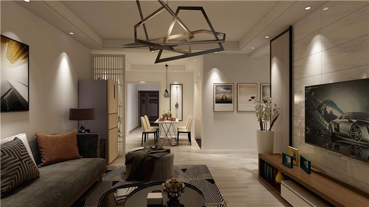 都匀尚城财富中心-112平米-现代风格装修效果图