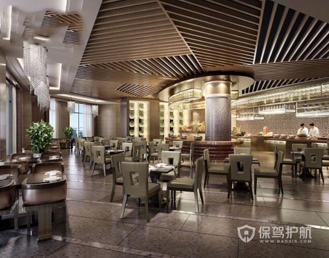 现代时尚创意西餐厅装修效果图
