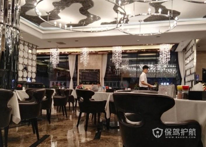 美式时尚亮丽西餐厅装修效果图