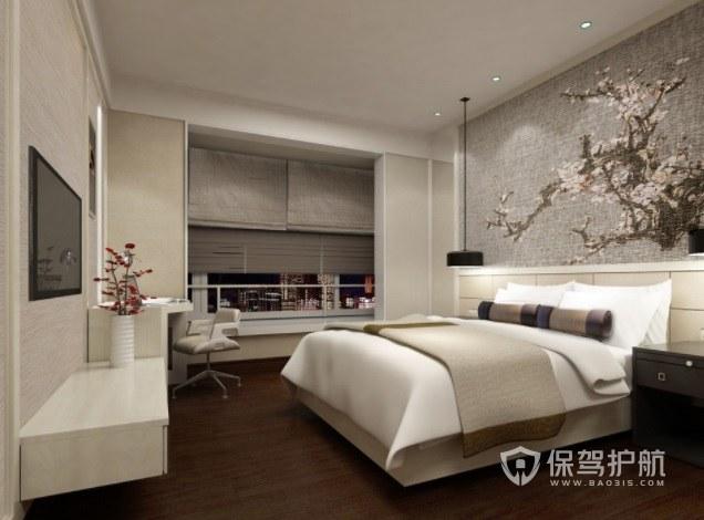 法式简约酒店房间装修效果图