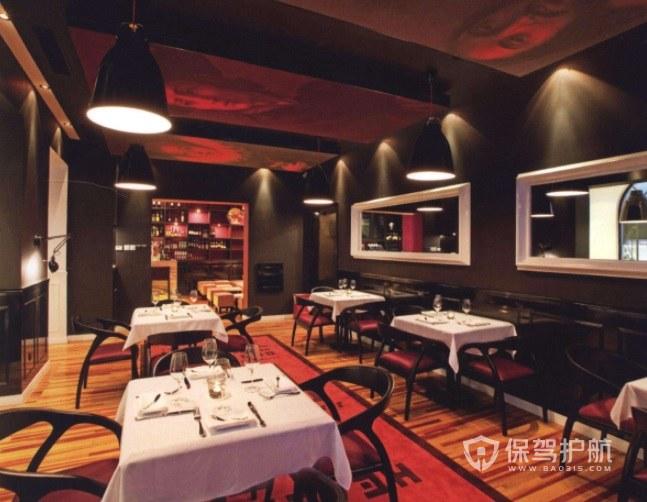 英式复古风西餐厅装修效果图