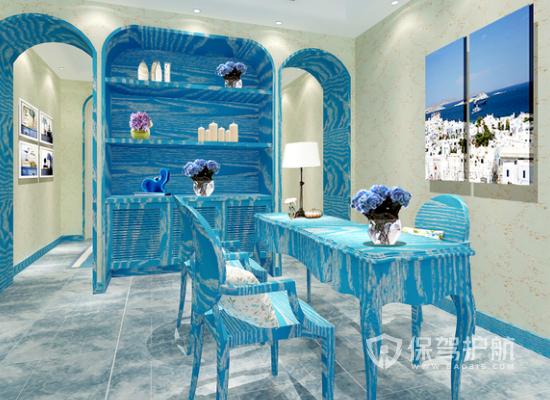 地中海风格美容机构桌椅设计效果图