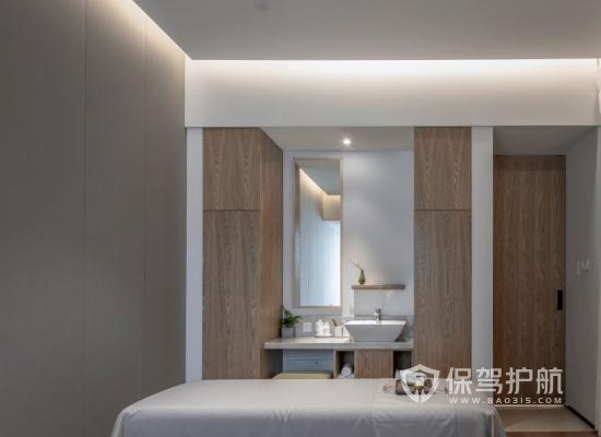 日式风格美容机构墙面设计效果图