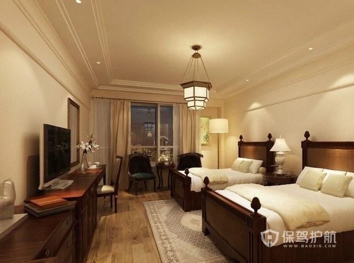 意大利温馨复古酒店双人房装修效果图