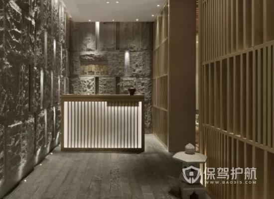 中式风格美容机构前台装修效果图
