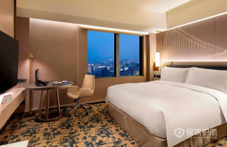 现代简约风酒店房间装修效果图