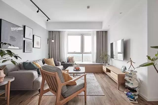 109㎡北欧三居室装修,塑造原木清新的舒适之家!
