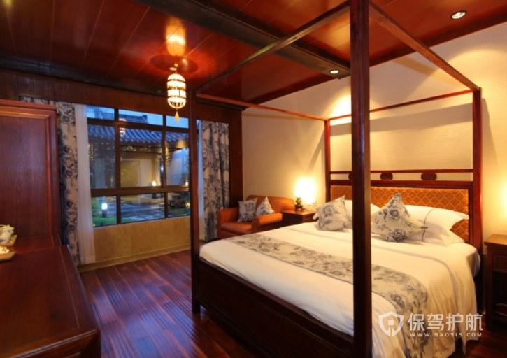 中式復古風酒店房間裝修效果圖