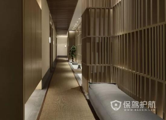 中式风格美容机构走廊装修效果图
