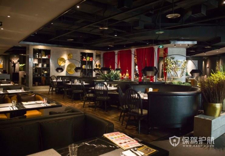 法式复古西餐厅装修效果图