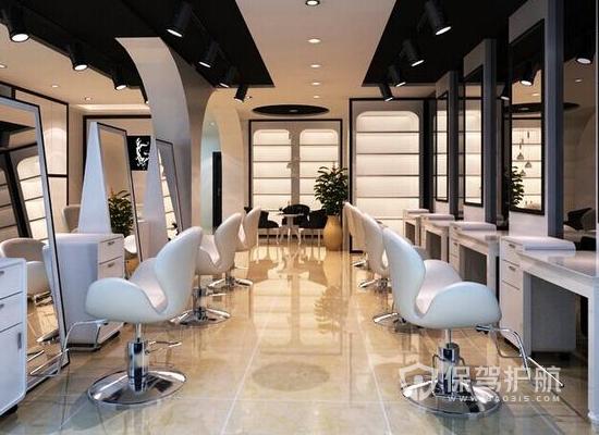 简约风格理发店工作区装修效果图