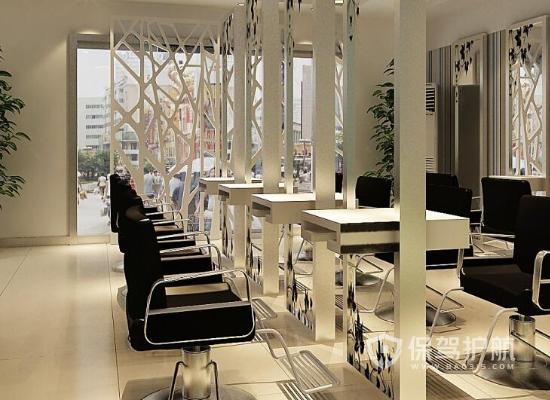 现代风格理发店工作区装修效果图